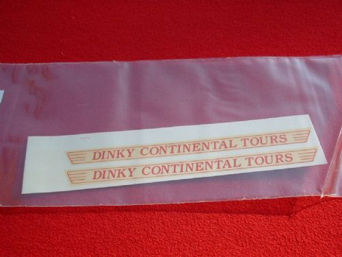 "Dinky Toys 953 COACH ""DINKY CONTINENTAL TOURS"" TRANSFERS / DECALS"